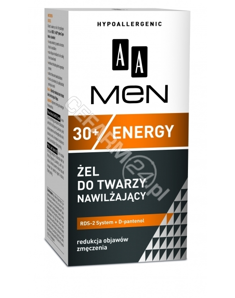 OCEANIC Aa men energy 30+ - nawilżający żel do pielęgnacji twarzy 30+ 50 ml