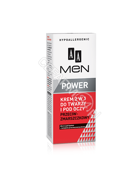 OCEANIC AA Men Power krem 2w1 do twarzy i pod oczy przeciwzmarszczkowy 50 ml