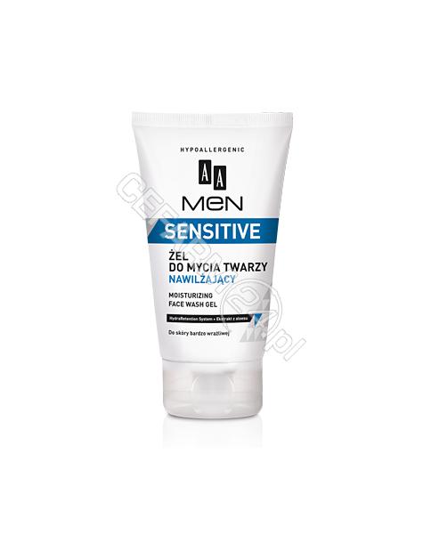 OCEANIC AA Men Sensitive żel do mycia twarzy nawilżający 150 ml