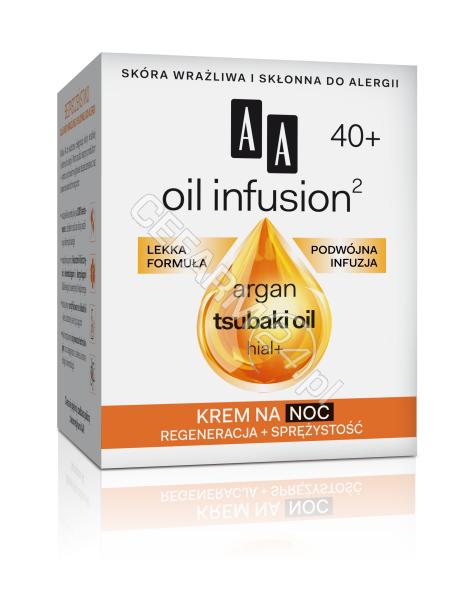 OCEANIC AA Oil Infusion 40+ krem na noc REGENERACJA + SPRĘŻYSTOŚĆ 50 ml