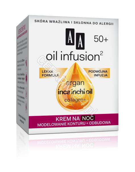 OCEANIC AA Oil Infusion 50+ krem na noc MODELOWANIE KONTURU + ODBUDOWA 50 ml