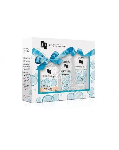 OCEANIC AA promocyjny zestaw Hydro Algi błękitne - krem odżywczy do skóry suchej i normalnej 50 ml + żel oczyszczający do mycia twarzy 150 ml + żel micelarny 200 ml GRATIS!!!