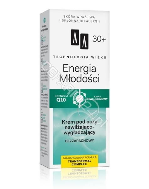OCEANIC AA Technologia Wieku Energia Młodości 30+ krem pod oczy nawilżająco - wygładzający bezzapachowy 15 ml