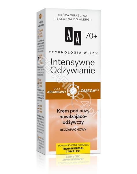 OCEANIC AA Technologia Wieku Intensywne Odżywienie 70+ krem pod oczy nawilżająco - odżywczy bezzapachowy 15 ml