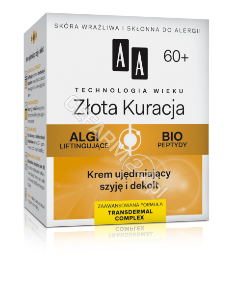 OCEANIC AA Technologia Wieku Złota Kuracja 60+ krem ujędrniający szyję i dekolt 50 ml