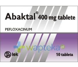 SANDOZ GMBH Abaktal tabletki powlekane 400mg 10 sztuk