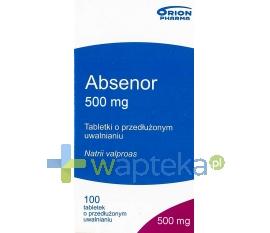 ORION CORPORATION Absenor tabletki o zmodyfikowanym uwalnianiu 500mg 100 sztuk