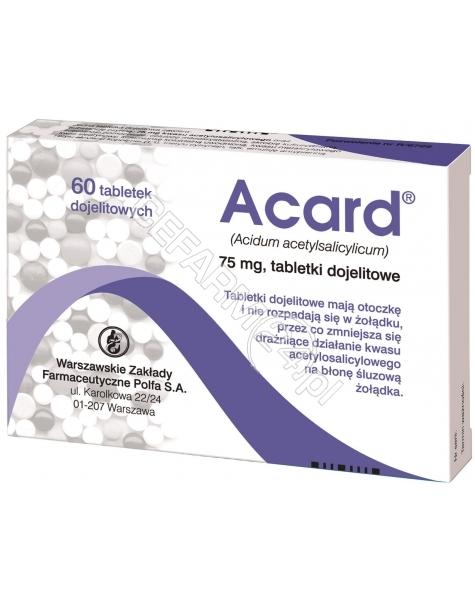 POLFA WARSZA Acard 75 mg x 60 tabl