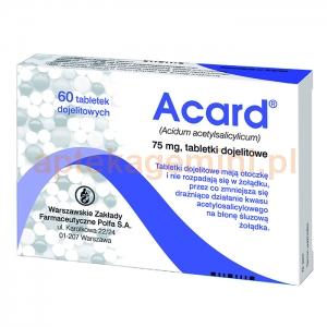 POLFA WARSZAWA Acard 75mg, 60 tabletek