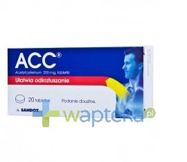 SANDOZ GMBH ACC 0,2 g 20 tabletek 18291