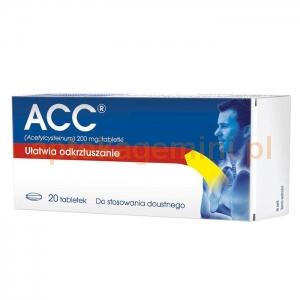 SANDOZ ACC, 200mg, 20 tabletek powlekanych