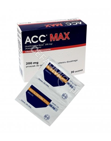 INPHARM Acc Max 200 mg granulat x 20 sasz (import równoległy - Inpharm Hiszpania)