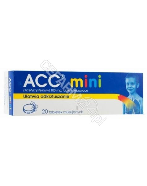 SANDOZ Acc mini 100 mg x 20 tabl musujących