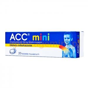 SANDOZ ACC mini, 100mg, od 3 lat, 20 tabletek musujących