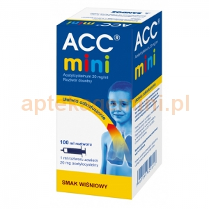SANDOZ ACC mini, 200mg/1ml roztwór doustny, od 3 lat, 100ml