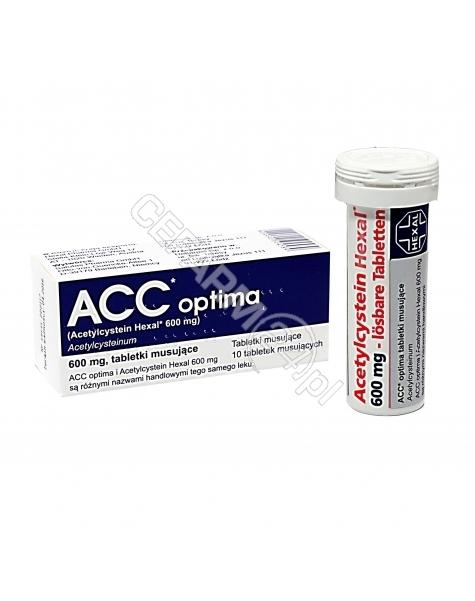 DELFARMA Acc optima 600 mg x 10 tabl musujących (import równoległy - Delfarma)