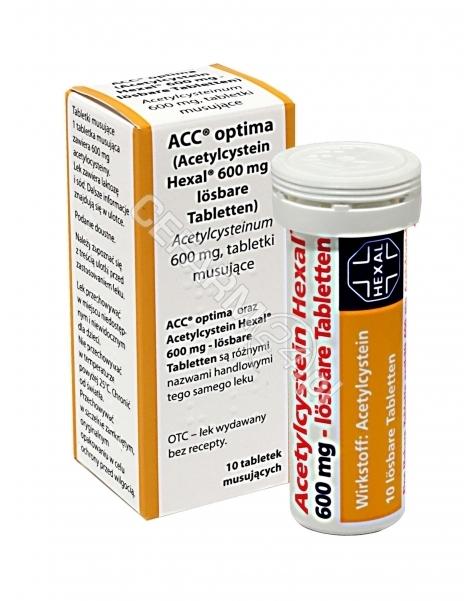 FORFARM Acc optima 600 mg x 10 tabl musujących (import równoległy - Forfarm)