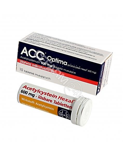 INPHARM Acc optima 600 mg x 10 tabl musujących (import równoległy - Inpharm)