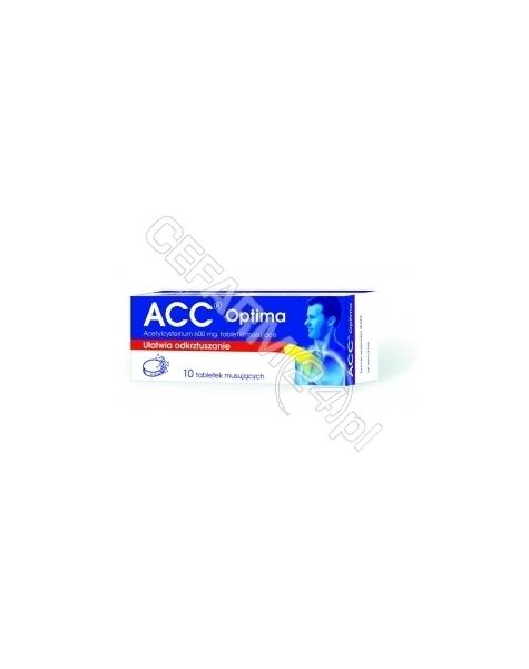 SANDOZ Acc optima 600 mg x 10 tabl musujących