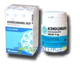 WARSZAWSKIE ZAKŁ.FARM. POLFA S.A. Acenocumarol WZF tabletki 4mg 60 sztuk