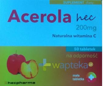 HECPHARMA Acerola 200mg hec 50 sztuk