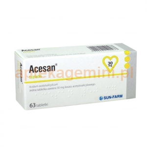 SUN FARM Acesan 30mg, 63 tabletek