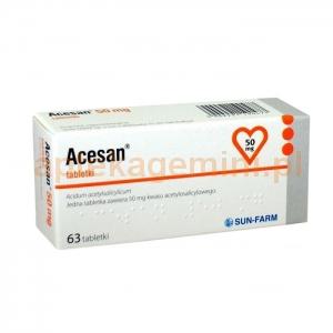 SUN FARM Acesan 50mg, 63 tabletki