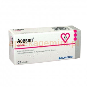 SUN FARM Acesan 75mg, 63 tabletek