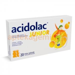 POLPHARMA Acidolac Junior, dla dzieci powyżej 3 lat, smak pomarańczowy, 20 misiotabletek