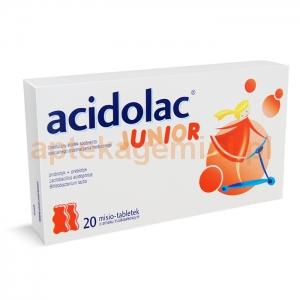 POLPHARMA Acidolac Junior, dla dzieci powyżej 3 lat, smak truskawkowy, 20 misiotabletek