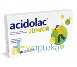 MEDANA PHARMA SPÓŁKA AKCYJNA ACIDOLAC Junior misio tabletki 20 tabletek