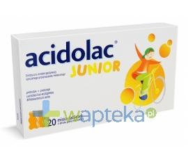MEDANA PHARMA SPÓŁKA AKCYJNA ACIDOLAC Junior misio tabletki smak pomarańczowy 20 tabletek
