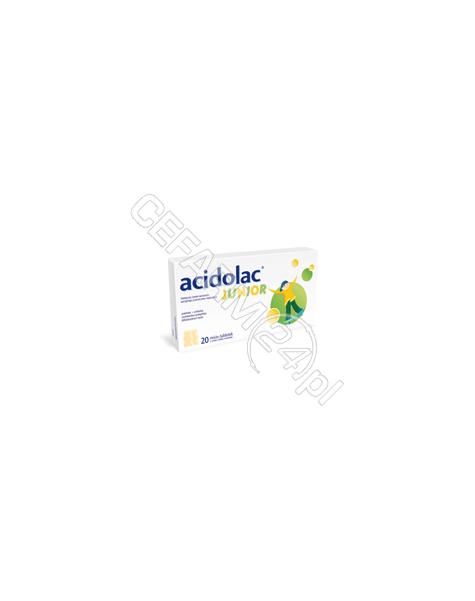POLPHARMA Acidolac junior x 20 misio-tabletek o smaku białej czekolady