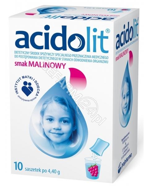 POLPHARMA Acidolit malinowy x 10 sasz po 4,4 g