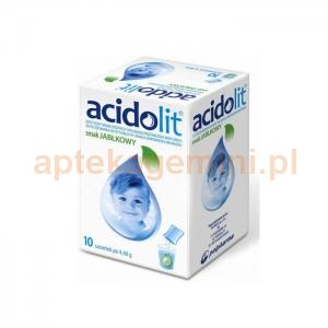 POLPHARMA Acidolit, smak jabłkowy, 10 saszetek