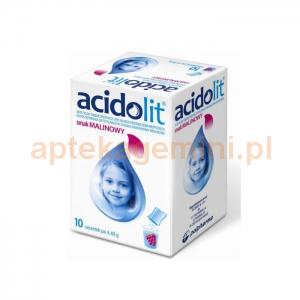 ZAKŁADY FARMACEUTYCZNE POLPHARMA S.A. Acidolit smak malinowy 10 saszetek
