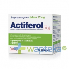 SEQUOIA SP. Z O.O. Actiferol Fe 15 mg 30 saszetek