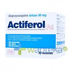 SEQUOIA SP. Z O.O. Actiferol Fe 30 mg 30 saszetek - Krótka data ważności - do 31-12-2015