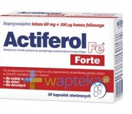 SEQUOIA SP. Z O.O. Actiferol Forte 30 kapsułek