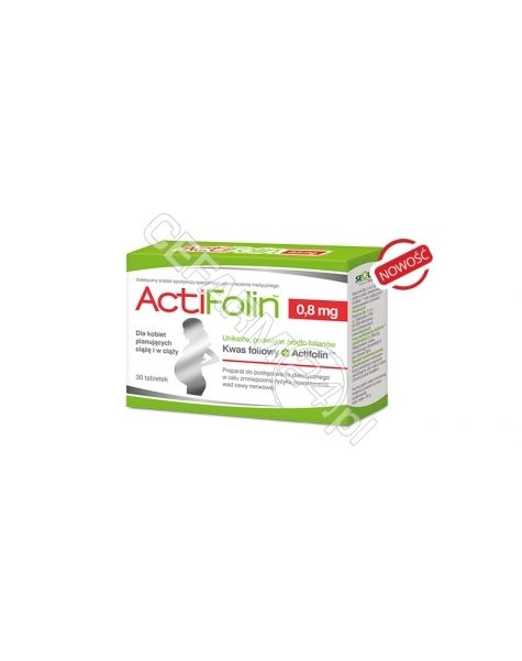 SEQUOIA Actifolin 0,8 mg x 30 tabl