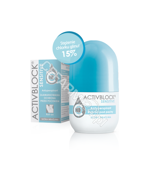 TEVA KUTNO Activblock sensitive roll-on do skóry wrażliwej 25 ml