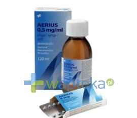 SCHERING-PLOUGH S.A. Aerius 0,5mg/ml roztwór doustny 60ml