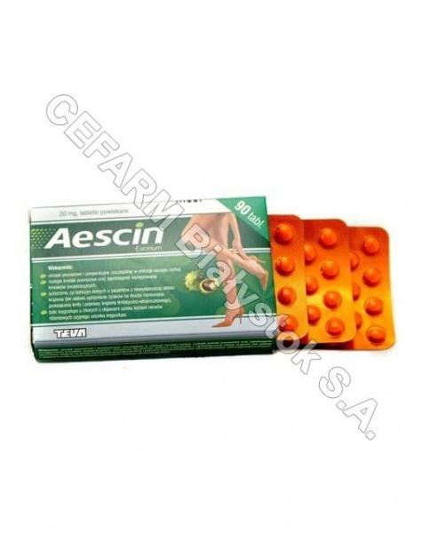 TEVA KUTNO Aescin 20 mg x 90 tabl powl