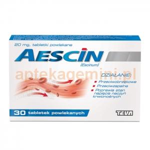 TEVA Aescin 20mg, 30 tabletek
