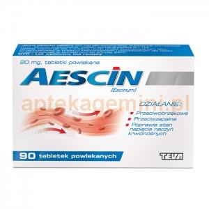 TEVA Aescin 20mg, 90 tabletek