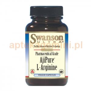 SWANSON AjiPure L-arginina, SWANSON, 60 kapsułek