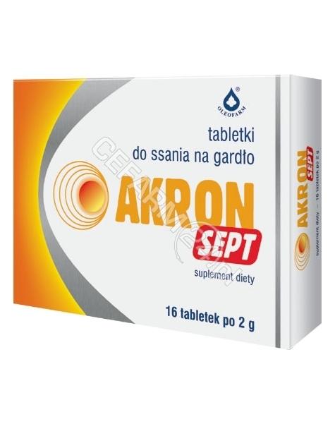 OLEOFARM Akron sept 2 g x 16 tabletek do ssania