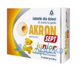 DYSTRYBUCJA OLFARM SP. Z O.O. Akron Sept Junior 18 tabletek