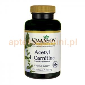 SWANSON ALC Acetyl L-karnityny, SWANSON, 100 kapsułek