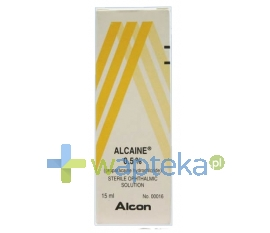 ALCON POLSKA SP. Z O.O. Alcaine krople do oczu 0,5% 15 ml